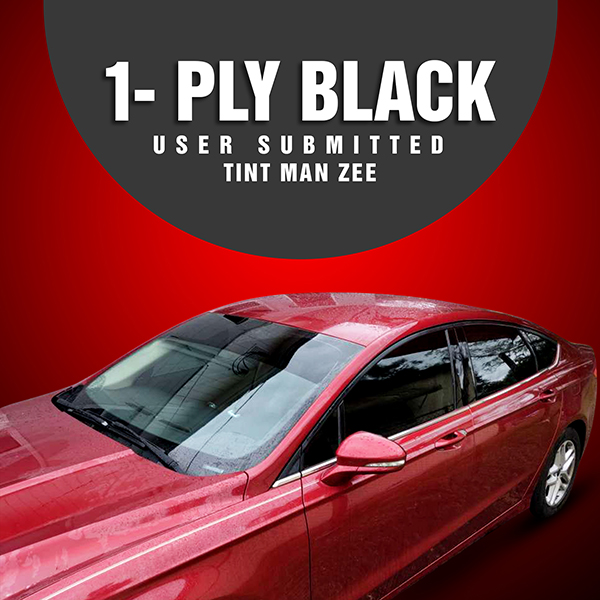 1 ply black wholesale window tint on small red car