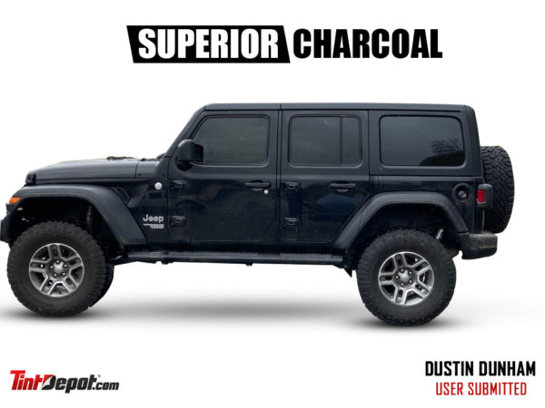 superior charcoal window film jeep