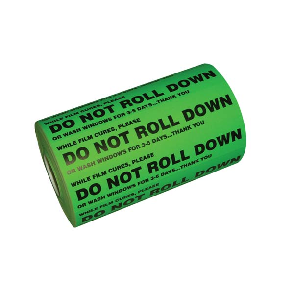 DO NOT ROLL DOWN STICKER