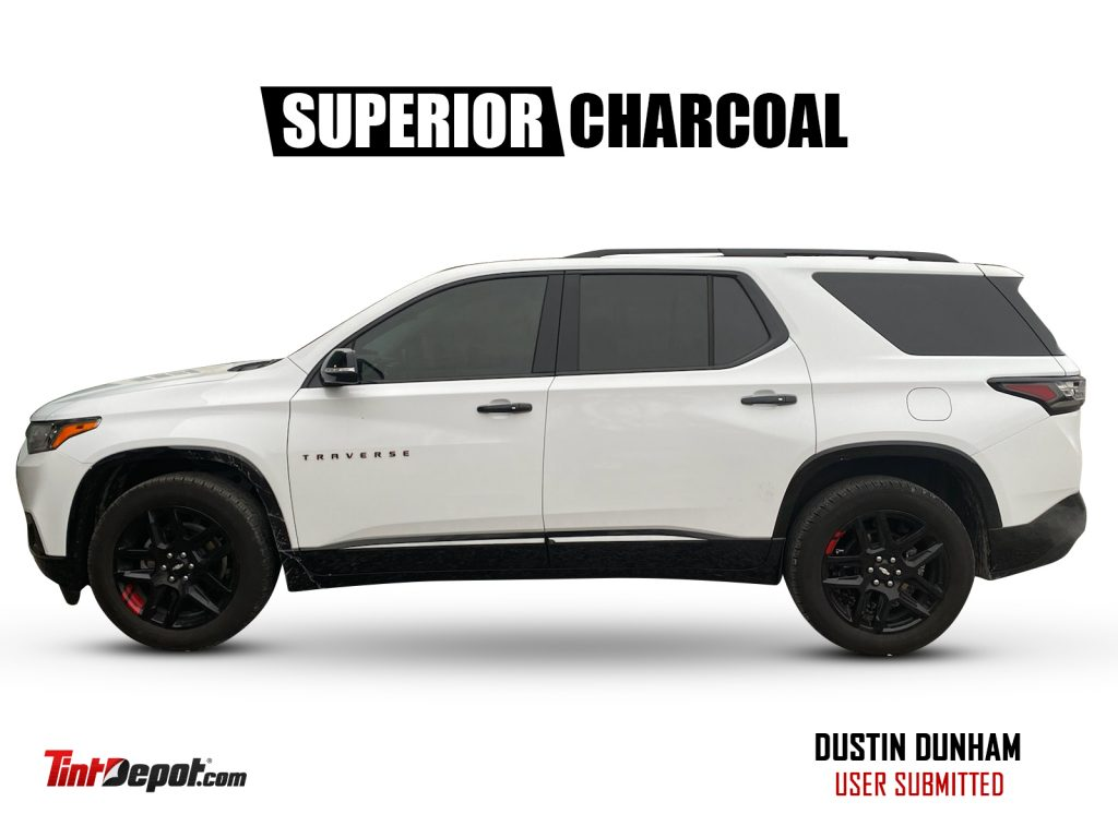 superior charcoal window film chevy traverse
