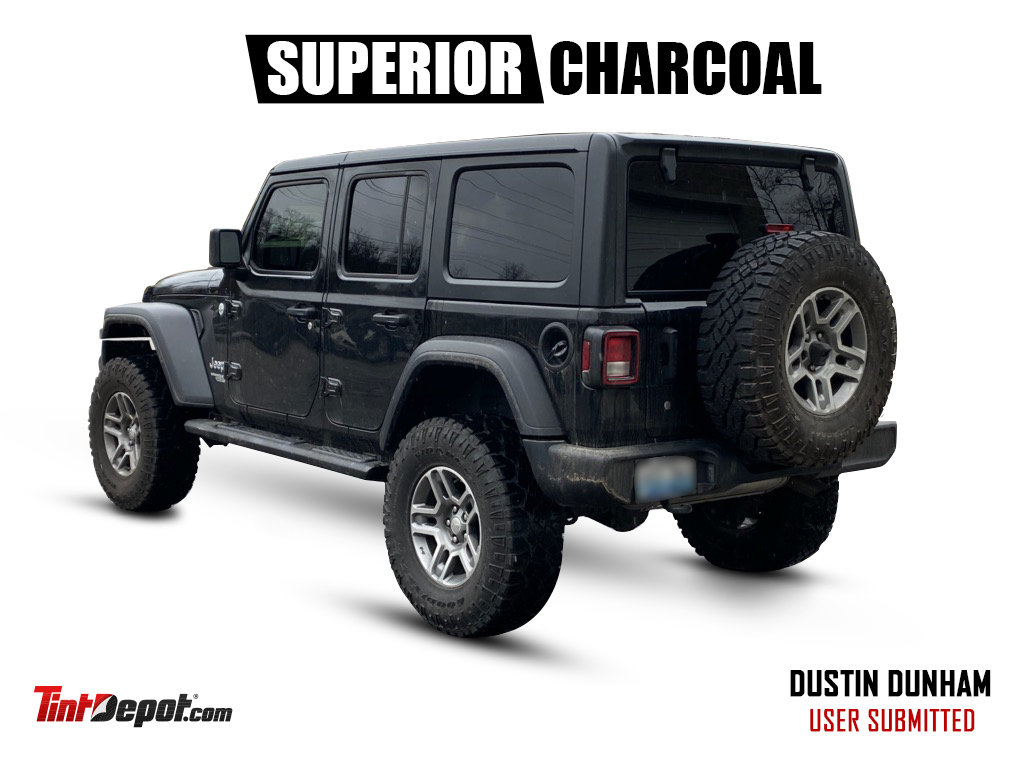 superior charcoal window tint film jeep 3