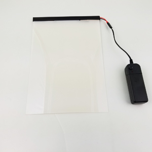 Electrochromic/ smart film with remote 10 x 7 card