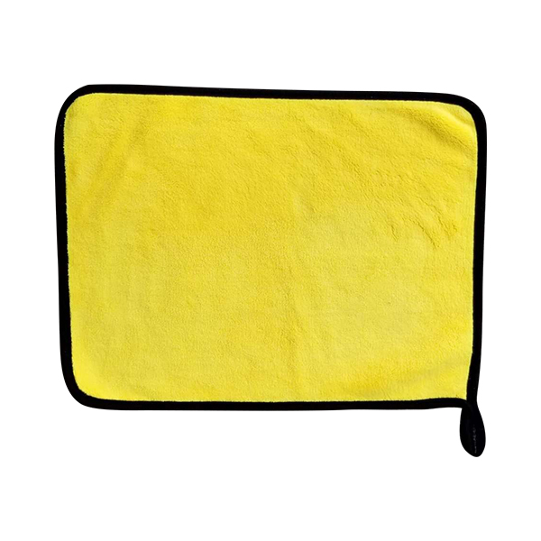 double sided microfiber towel yellow